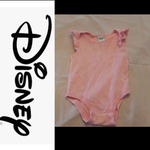 4/$15 size 12M Disney polka-dotted onesie